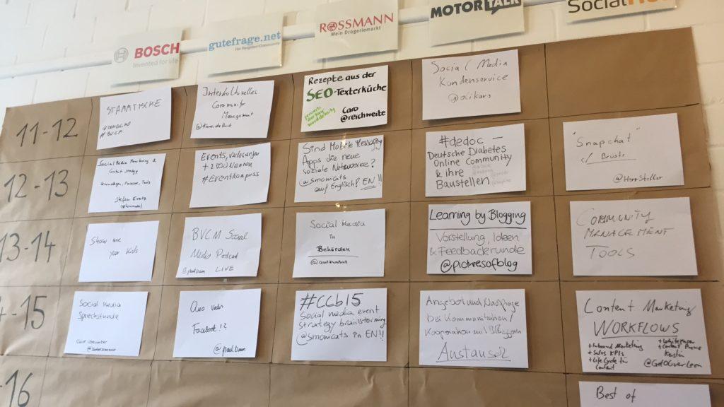 Sessionplan CommunityCamp Berlin